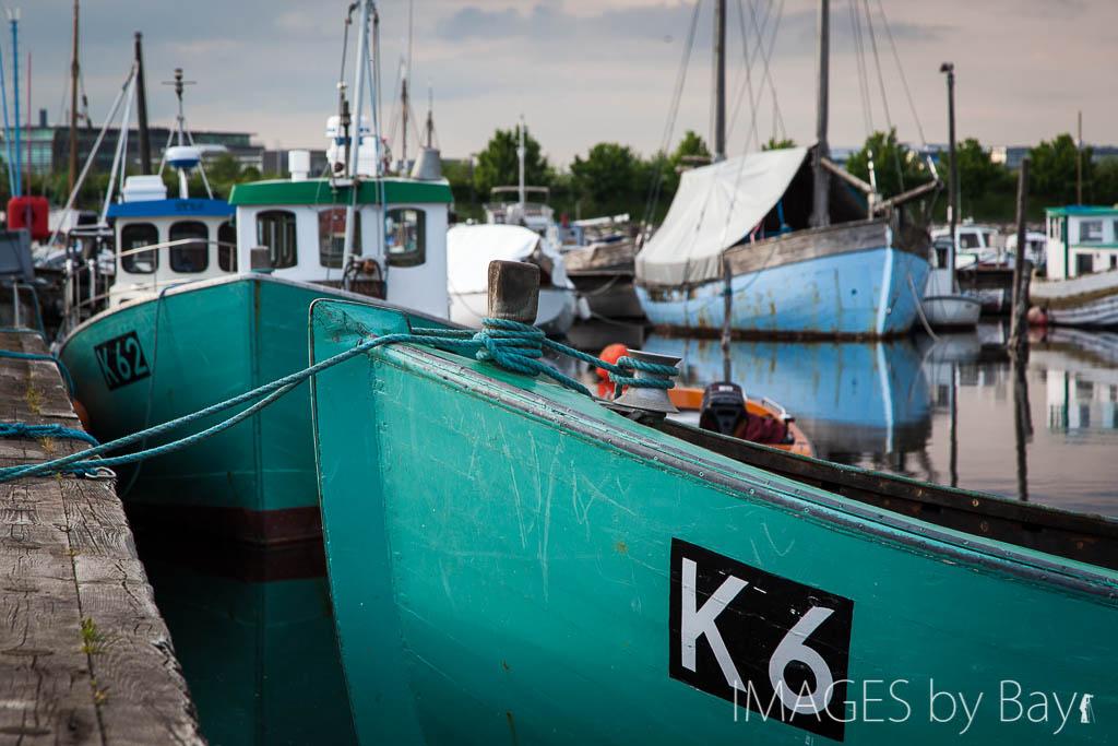 Green Fishing Boats